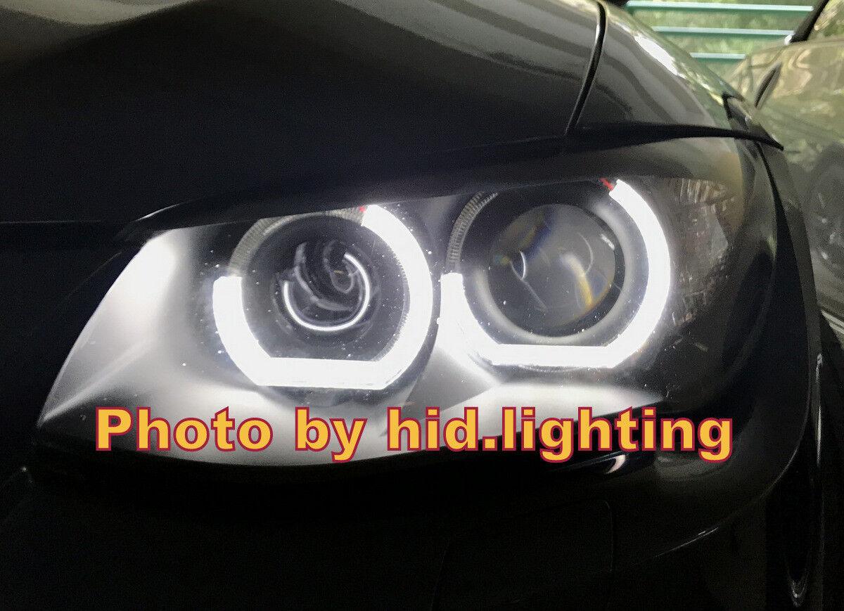 E92 E93 C Shape Crystal Angel Eye Halo Ring Light F30 Style Headlight White  LED