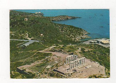 Sounion Poseidons Temple 1974 Postcard Greece 592a
