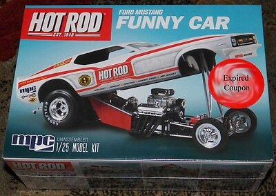 MPC Hot Rod Magazine  1970 Mustang Funny Car model kit 1/25