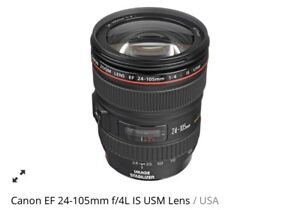 Canon Zoom Lens EF 24-105mm Like New