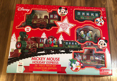 Disney Mickey Mouse Holiday Express 36 Piece Christmas Train Set Series 2 New