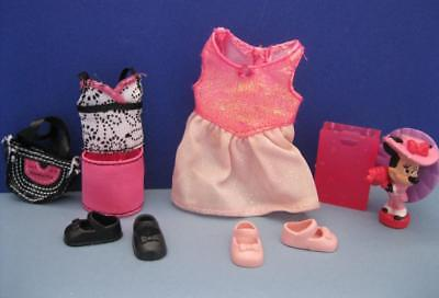 Minnie Mouse Original Outfit (Kelly Shelly Friends DOLL Clothes/Shoe-Mini Skirt Minnie Mouse Pink Dress)