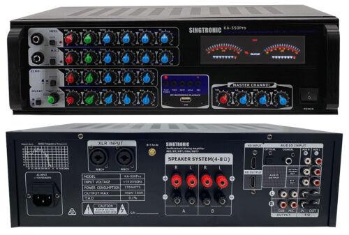 Singtronic KA-550Pro Professional 1500W Mixing Amplifier HDMI,Optical, Bluetooth