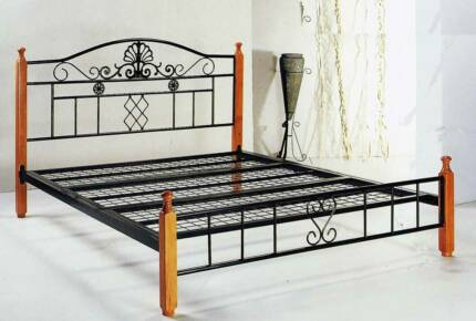 Queen size bed frame (Metal timber)