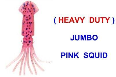JUMBO PINK SQUID SOFT BAIT MUPPET SEA FISHING BOAT ROD COD LURES RIGS PIRKS JIGS