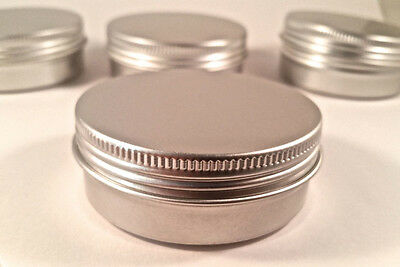 2 OZ. BLANK EMPTY SCREW TOP RUST PROOF METAL TIN CONTAINER CRAFT (24 pcs/count)