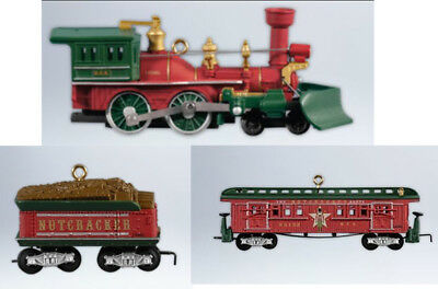 2012 Hallmark LIONEL Christmas TRAIN Ornament NUTCRACKER ROUTE set of 3