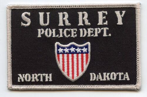 SURREY NORTH DAKOTA ND POLICE PATCH