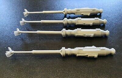 VINTAGE STAR WARS Kenner X-Wing 4 GREY CANNONS  3D PRINTED. FREE POSTAGE