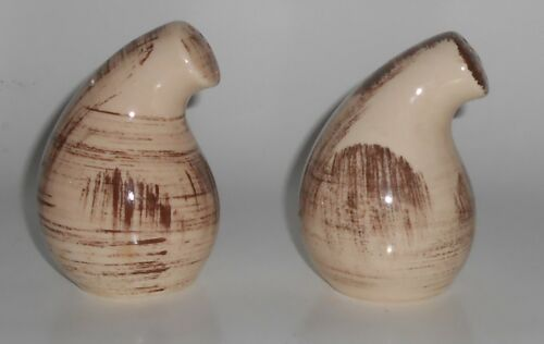 Vernon Kilns Pottery Barkwood Salt & Pepper Shaker Set