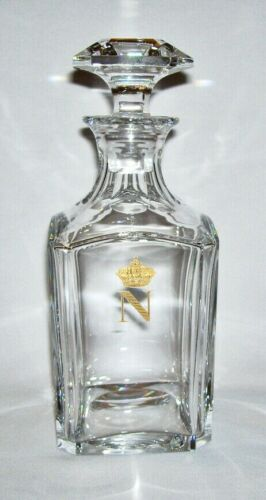BACCARAT~ Fine Crystal WHISKEY DECANTER w/STOPPER (Napoleon - No Leaves)~ France