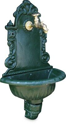 Garden Tap Wall Feature Cast Iron Green 725mm - 1/2