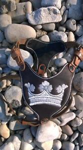 Royal Hundegeschirr Für  Mops,Französische Bulldogge...aus weichem Rindleder RAR