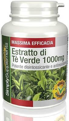 Estratto di Tè Verde 1000mg 180 + 180 (360) Capsule S515
