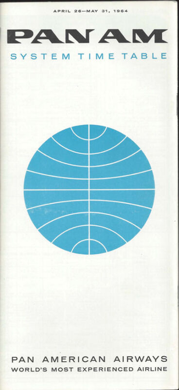 Pan Am system timetable 4/26/64 [0098]