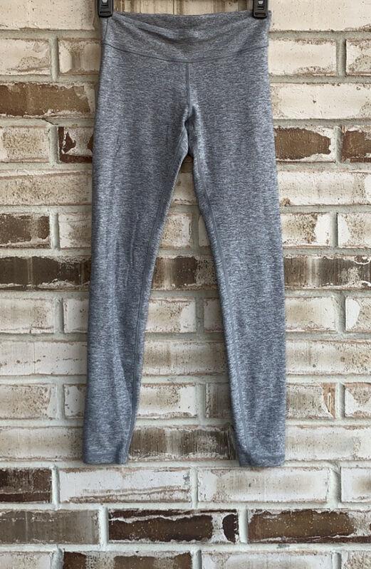 Lululemon Ivivva Girls Four Way Stretch Grey Leggings Sz 12