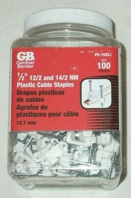 100 Gardner Bender Ps-150zj 12 Electrical Wire Staples Cable Straps 122-142