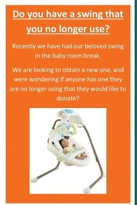 Baby swing needed Castlereagh Penrith Area Preview