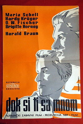 As Long As You Re Near Me German Maria Schell 1953 Hardy Kruger Yu Movie Poster