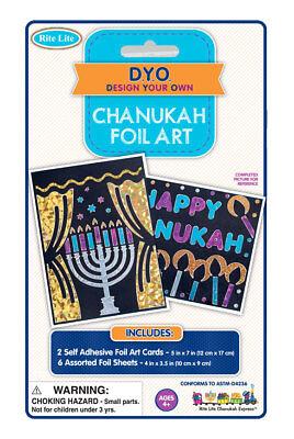 Chanukah Foil Art Craft Kit - Hanukkah  - Chanukah Crafts