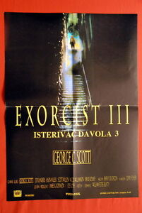 EXORCIST-III-HORROR-GEORGE-SCOTT-1990-DIFFERENT-RARE-EXYU-MOVIE-POSTER