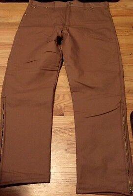 Vintage Key Carpenter Talon Zipper Liner Cotton Denim Pants. Size 42x30 NWT.