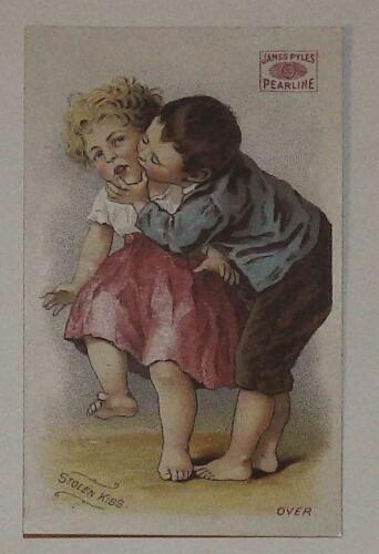 James Pyles Pearline Stolen Kiss Soap Washing machine VTC Victorian Trade Card L