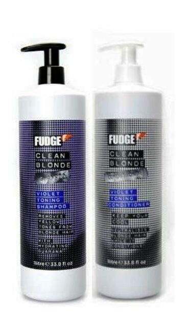 FUDGE CLEAN BLONDE Shampoo 1L AND Conditioner 1L with Pumps