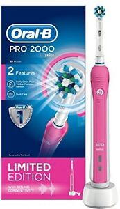 f24bf60bfd094 Oral-B Pro 2000W Rechargeable CrossAction Electric Toothbrush - Pink ...