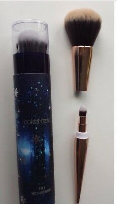 - Look Fantastic 2 In 1 Multi Use Brush Large Kabuki Small Eye Make Up New In Box