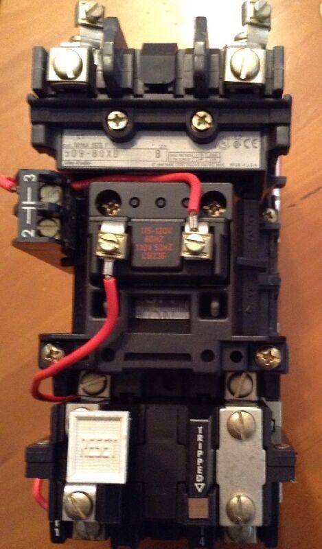 Allen-Bradley Full Voltage Starter 509-BOXD Series D Nema Size 1