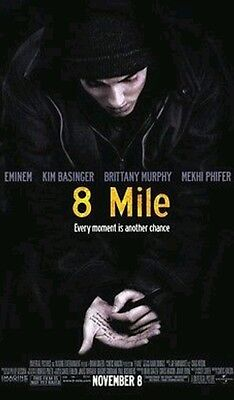 8 MILE, GENUINE MOVIE THEATER DOUBLE-SIDED VINYL POSTER 5 FT BY 8 FT, EMINEM