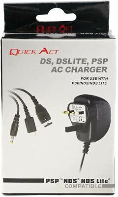 Quick Act DS, DSLITE, DSI, PSP, 3DS AC Charger