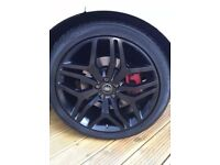 "NEW 22"" GENUINE RANGE ROVER SPORT AUTOBIOGRAPHY ALLOY WHEELS AND CONTINENTAL TYRES"