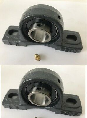 2 Pillow Block Bearing W Cast Iron Housing 1 Mpn Ucp205 W Uc205-16 Bearing