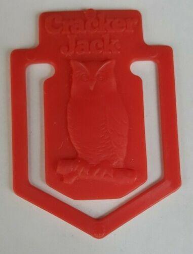 1986 Vintage Premium Cracker Jack Prize Toy Pocket Clip of Owl