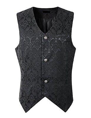 New Brocade Men's Vest Waistcoat Gothic Steampunk Victorian/Western-Reenactment