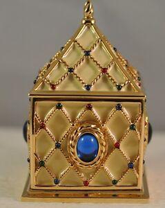 Wendy Reed 'Diana' Crystal Goldtone Trinket Box