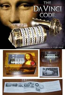 Raro CRYPTEX Dan Brown CODICE DA VINCI Code 1/2 Replica METAL Noble...