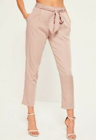 Misguided satin trousers