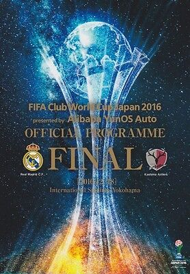 * 2016 FIFA CLUB WORLD CUP FINAL - REAL MADRID v KASHMIA ANTLERS *