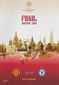 CHELSEA v MAN UTD CHAMPIONS LEAGUE FINAL ORIGINAL PROGRAMME 2008 MANCHESTER