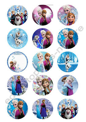 Disney's Frozen Edible Print Cupcake/Cookie Toppers Frosting Sheets 2 Sizes