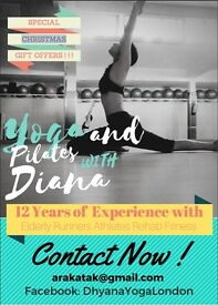 Private and Group classes of Yoga and Pilates with Diana