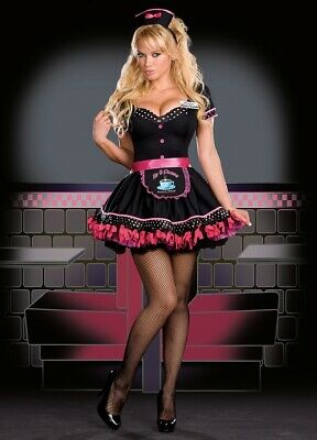 Sexy Halloween Adult Eileen U. Look Waitress Costume Size Small - New Look Halloween Costumes