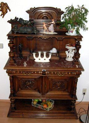 alter antiker Schrank Aufsatzanrichte Anrichte Dessertschrank Gründerzeit Buffet