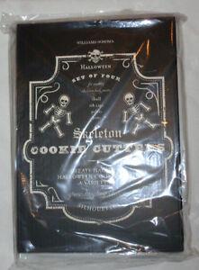 NIP WILLIAMS-SONOMA HALLOWEEN SKELETON COOKIE CUTTERS, Set of 4