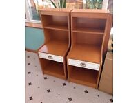 Pair of retro bedside cabinets