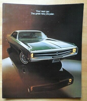 CHRYSLER 1969 range orig USA Mkt large format prestige brochure - 300 New Yorker
