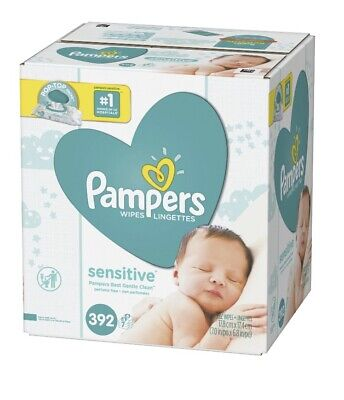 Pampers Wipes Sensitive Perfume Free Baby Wipes Flip-Top Packs